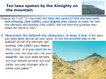 ten laws spoken by the almighty on the mountain1