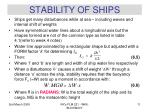 stability of ships