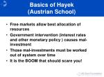 basics of hayek austrian school