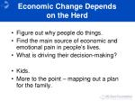 economic change depends on the herd