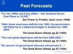 past forecasts