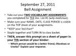 september 27 2011 bell assignment