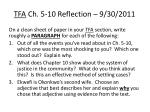 tfa ch 5 10 reflection 9 30 2011