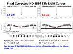 final corrected hd 189733b light curves