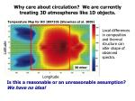 why care about circulation we are currently treating 3d atmospheres like 1d objects