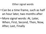 other signal words