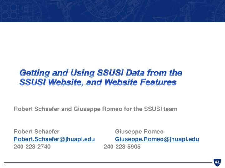 getting and using ssusi data f rom the ssusi website and website features n.