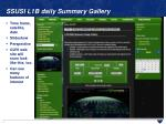 ssusi l1b daily summary gallery