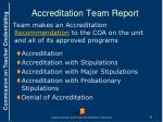 accreditation team report2