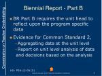 biennial report part b