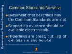 common standards narrative