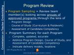 program review2