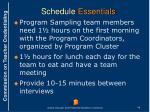 schedule essentials