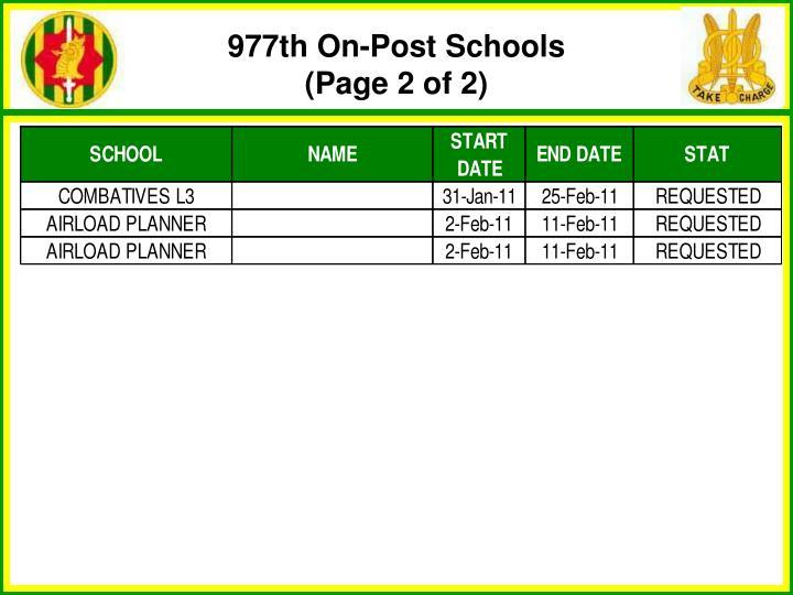 977th On-Post Schools
