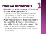 from gas to prosperity