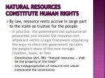 natural resources constitute human rights1