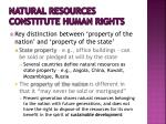 natural resources constitute human rights3