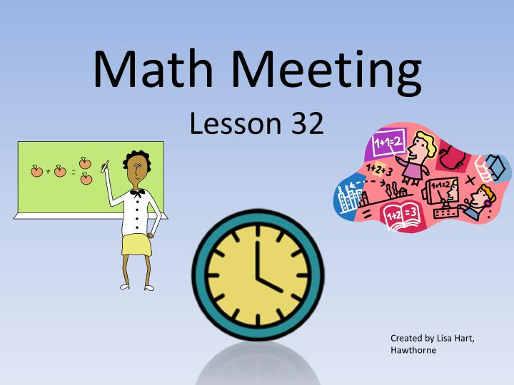 math meeting lesson 32 n.