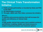 the clinical trials transformation initiative