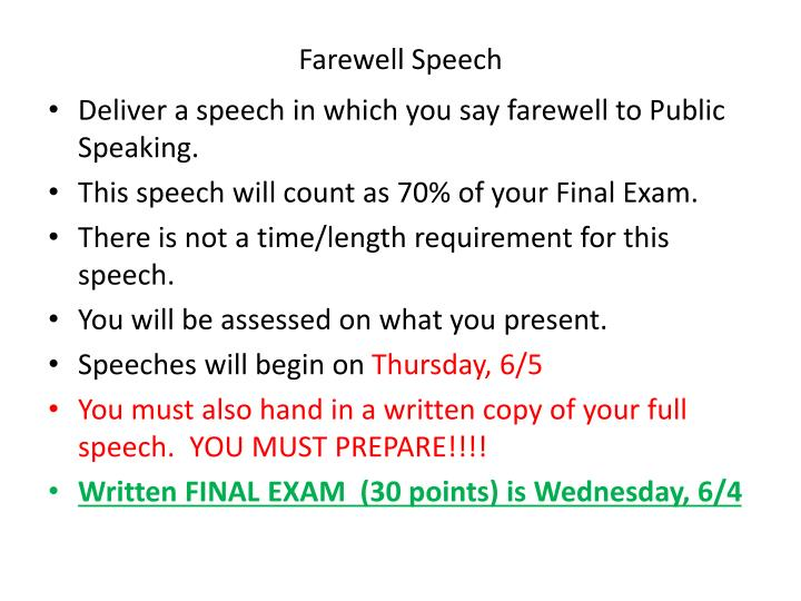 Sample Speeches