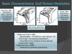 basic characteristics gulf stream meanders