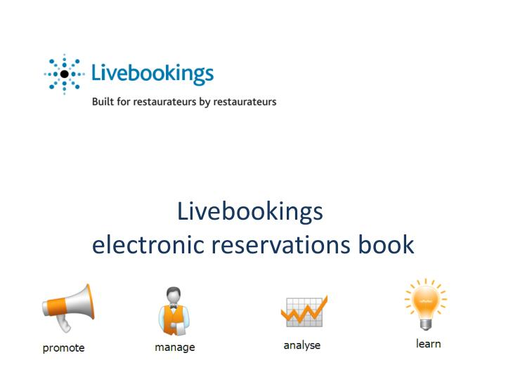 livebookings electronic reservations book n.