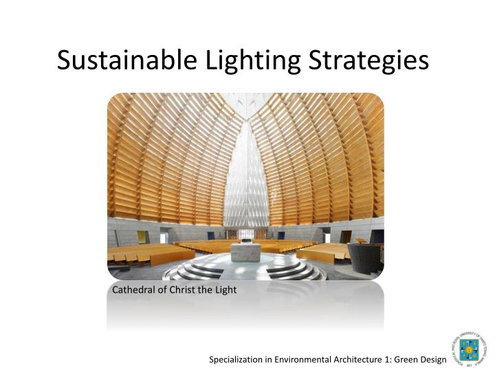 sustainable lighting strategies n.