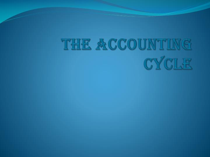 the accounting cycle n.