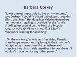 barbara corkey