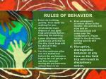 rules of behavior