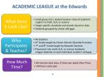 academic league at the edwards