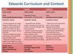 edwards curriculum and content