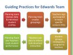 guiding practices for edwards team