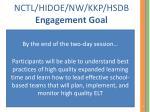nctl hidoe nw kkp hsdb engagement goal