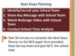 next steps planning