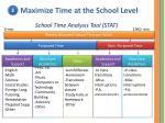 school time analysis tool stat