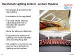 benchmark lighting control lecture theatres1