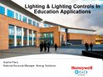 lighting lighting controls in education applications