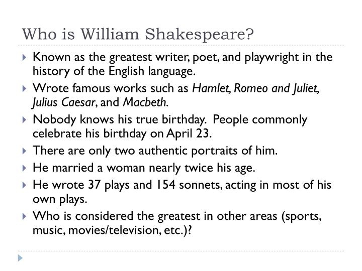 who is william shakespeare n.