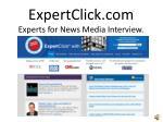 expertclick com experts for news media interview