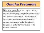 omaha preamble