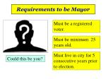 requirements to be mayor