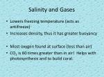 salinity and gases