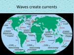 waves create currents