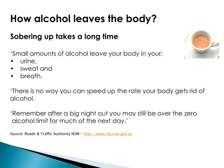 How alcohol leaves the body?