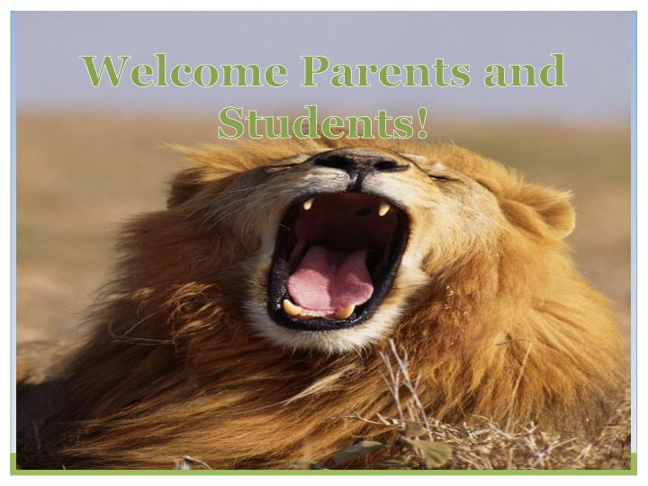 welcome parents and students n.