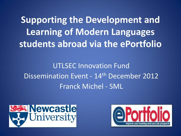 supporting the development and learning of modern languages students abroad via the eportfolio n.