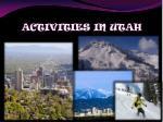 activities in utah