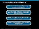 impact of gigabyte lifestyle
