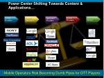 power center shifting towards content applications